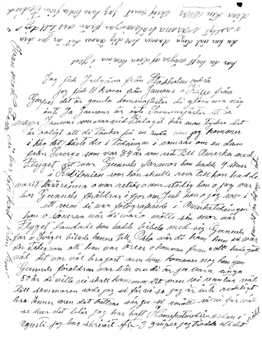 Ulla's 1950 letter to daughter Edith